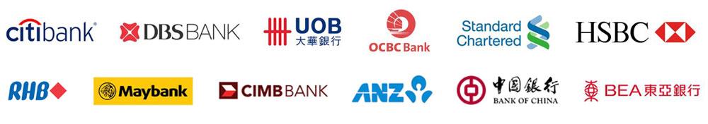 Singapore bank logos