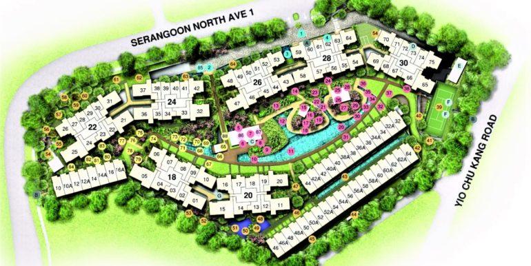 Affinity at serangoon-Siteplan