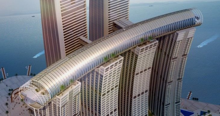 Raffles city chongqing conservatory sky bridge