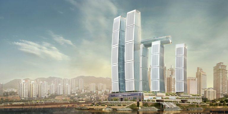 raffles city chongqing mixed development