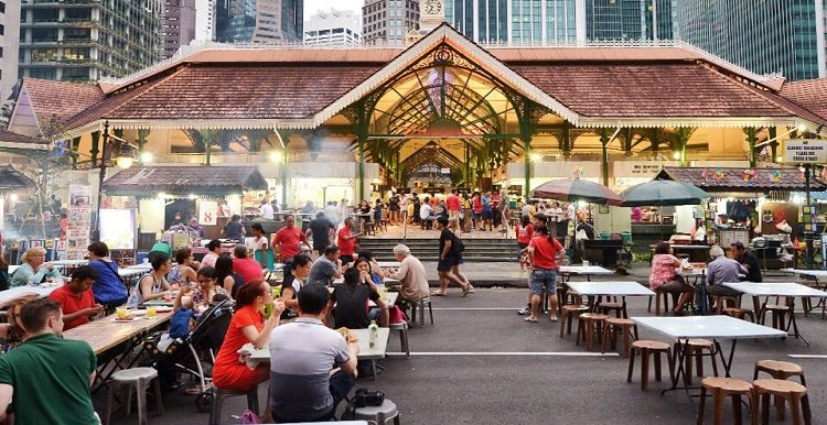 Lau pa sat outdoor dining