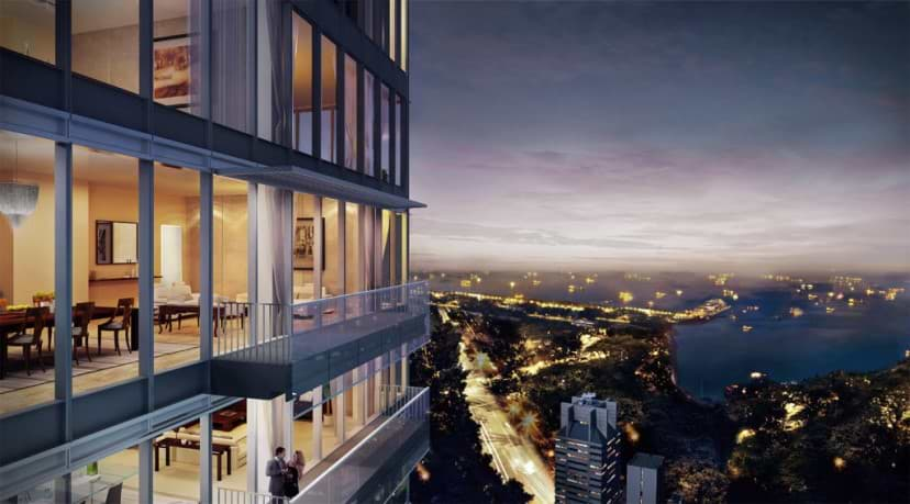 Wallich Residences Sideview Night